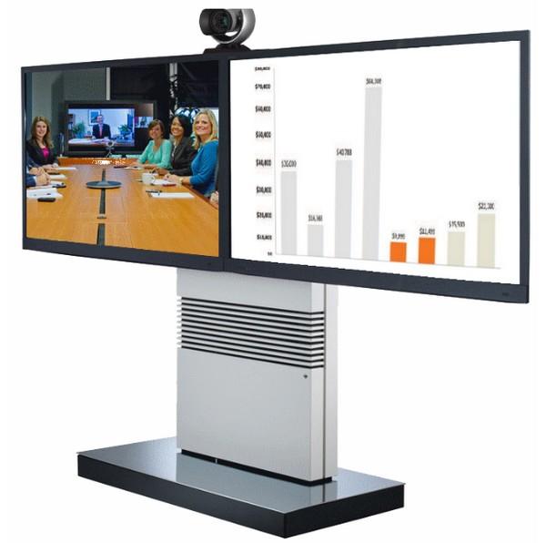 Videokonferenz Telepresence Roll Stand Dualdisplay