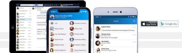 mobile Videokonferenz IM Chat App für Unternehmen
